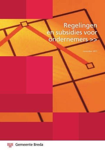 Regelingen en subsidies voor ondernemers >> - BrIM Breda