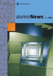 alumniNews 01| 2003 - Alumni - Universität Stuttgart