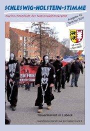 Trauermarsch in Lübeck - Schleswig-Holstein-Stimme - NPD ...