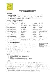Commission Développement Durable Du mercredi 06 octobre 2010 ...