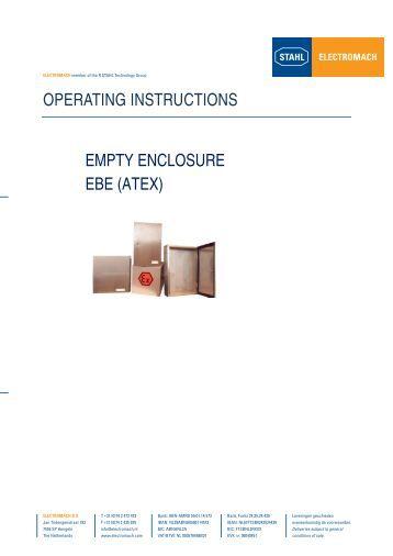 EBE Manual - Electromach BV