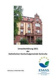 Umwelterklärung - Katholische Hochschulgemeinde