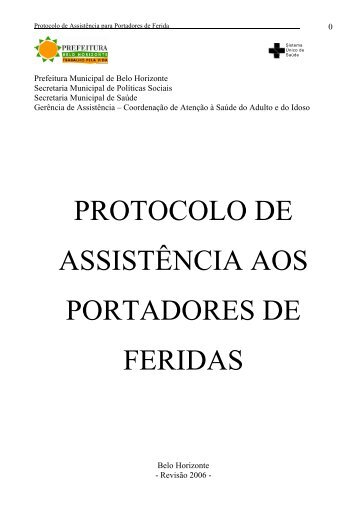 protocolo de assistência aos portadores de feridas - Prefeitura ...