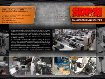 Facility Brochure - SDP/SI