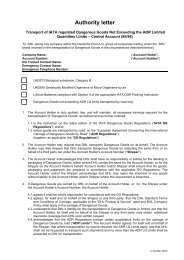 Approval Authority Letter for UN3373 IMPORT - DHL