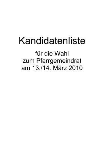 Wahlzeiten - Seelsorgeeinheit Adelsheim-Osterburken-Seckach