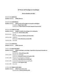 24° Fórum de Psicologia em Cardiologia 16 de setembro de 2011