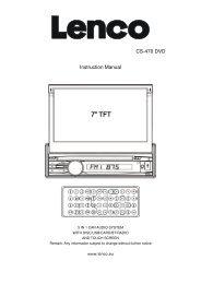 CS-470 DVD Instruction Manual - Lenco