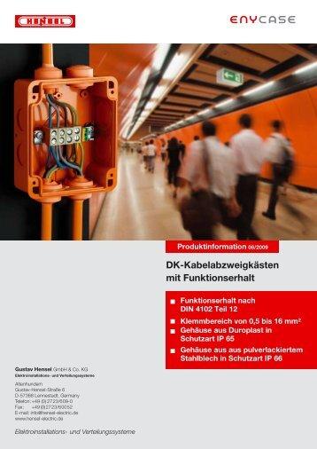 DK-Kabelabzweigkästen mit Funktionserhalt - Hensel