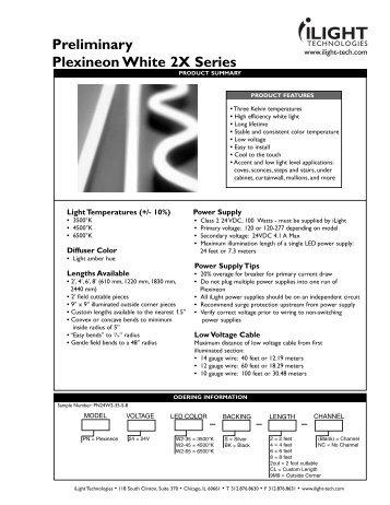 Preliminary Plexineon White 2X Series - iLight Technologies