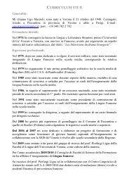 Curriculum vitae (pdf, it, 240 KB, 4/7/11)