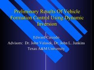 Presentation - Vehicle Systems and Control Laboratory - Texas A&M ...