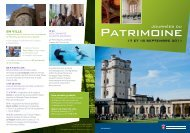 programme des journées du patrimoine 2011 à Vincennes (pdf - 1 ...