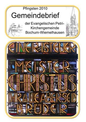 Inhalt - Evangelische Petri-Kirchengemeinde in Bochum ...