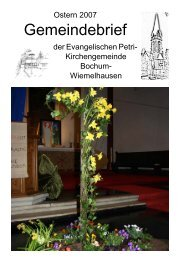 400 Jahre Paul Gerhardt - Evangelische Petri-Kirchengemeinde in ...