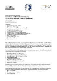 Protokoll des 1. Treffens (pdf-Datei, 44KB) - Österreichisches Institut ...
