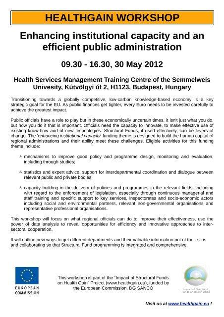 Leaflet Budapest Workshop Version FINAL 22 May 2012 pdf