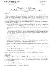 """¨Ubungen zur Vorlesung """" Simulation – Methoden ... - Universität Bonn"""