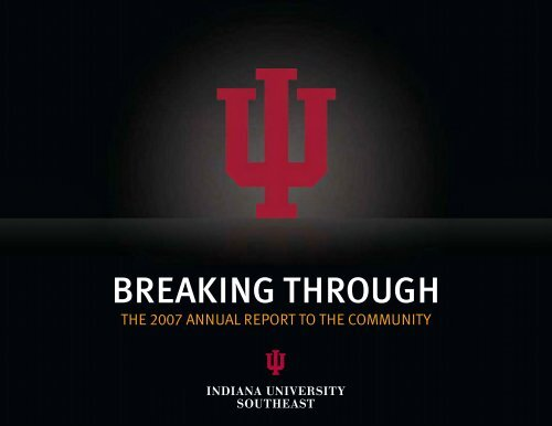 BREAKING THROUGH - Indiana University Southeast