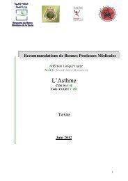 Asthme sévère - Agence Nationale de l'Assurance Maladie