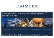 Investigation of Li-battery and fuel cell aging in FC hybrid car model