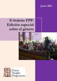 E-boletín FPP: Edición especial sobre el género - Forest Peoples ...
