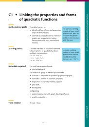C1 Linking the properties and forms of quadratic functions C1 ...