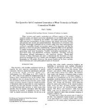 The Quest for Self-Consistent Generation of Plate Tectonics in ...