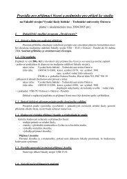 Pravidla pro přijímací řízení a podmínky pro přijetí ke studiu