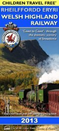 Download - Ffestiniog & Welsh Highland Railways