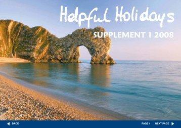 supplement 1 2008 - Helpful Holidays