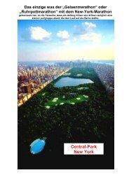 Central-Park New York - Gelsenkirchen Marathon