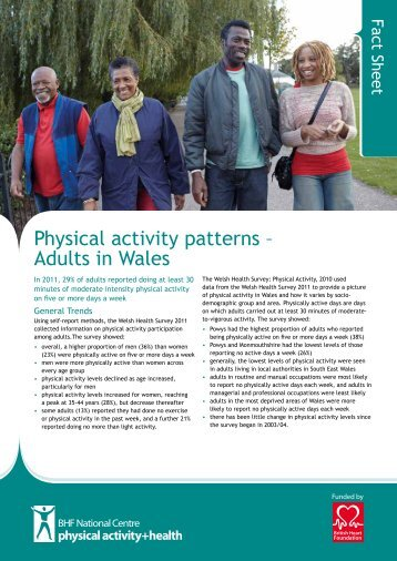 Physical activity patterns – Adults in Wales - BHF National Centre ...