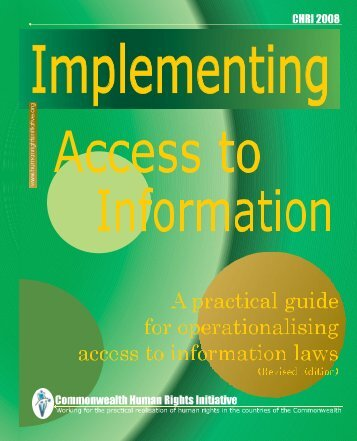 Implementing Access to Information - Commonwealth Human Rights ...