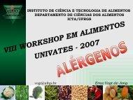 alergia alimentar - Univates