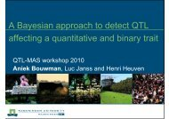 A Bayesian approach to detect QTL affecting a quantitative and ...