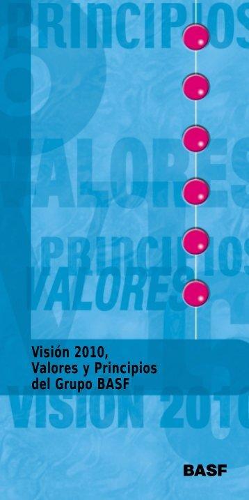 Visión 2010, Valores y Principios del Grupo BASF