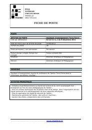 FICHE DE POSTE assis#6C8A3C - esadmm