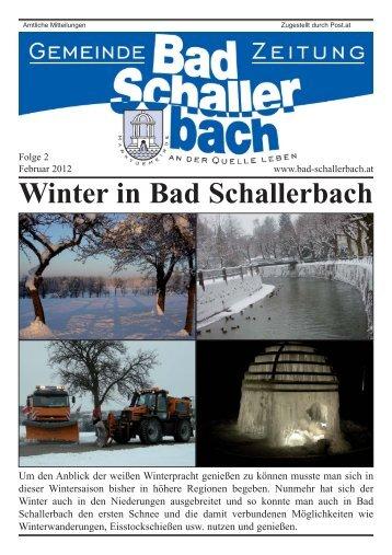 Winter in Bad Schallerbach - Gemeinde Bad Schallerbach