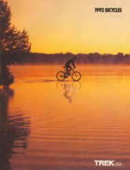 1992 Trek Bicycles Catalog - Bikeman