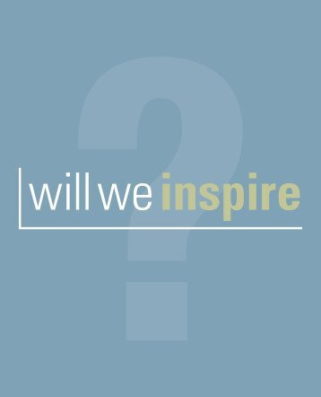Will We Inspire? - Louisiana Department of Education