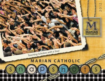 entrance exam - Marian Catholic High School
