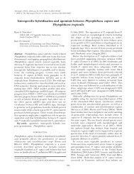 Interspecific hybridization and apomixis between ... - Mycologia