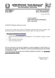 Registro elettronico on-line - Liceo Statale C. Montanari