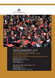 5° concerto Venerdì 18 gennaio 2013 - ore 21 - Chivasso in Musica