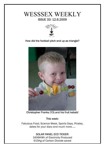 Issue 33 - Wessex Primary School