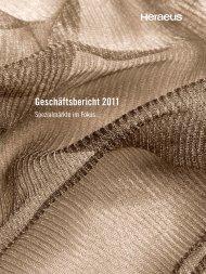 Geschäftsbericht 2011 - Über Heraeus