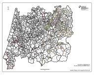 Mapa dos concelhos e freguesias do centro (p/b) - DRAP Centro