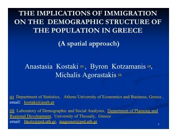 Immigration impact on the demographic structure of the population ...