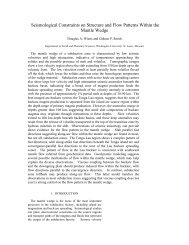 Seismological Constraints on Structure and Flow Patterns Within the ...